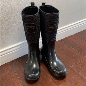 Coach Rain boots size 8